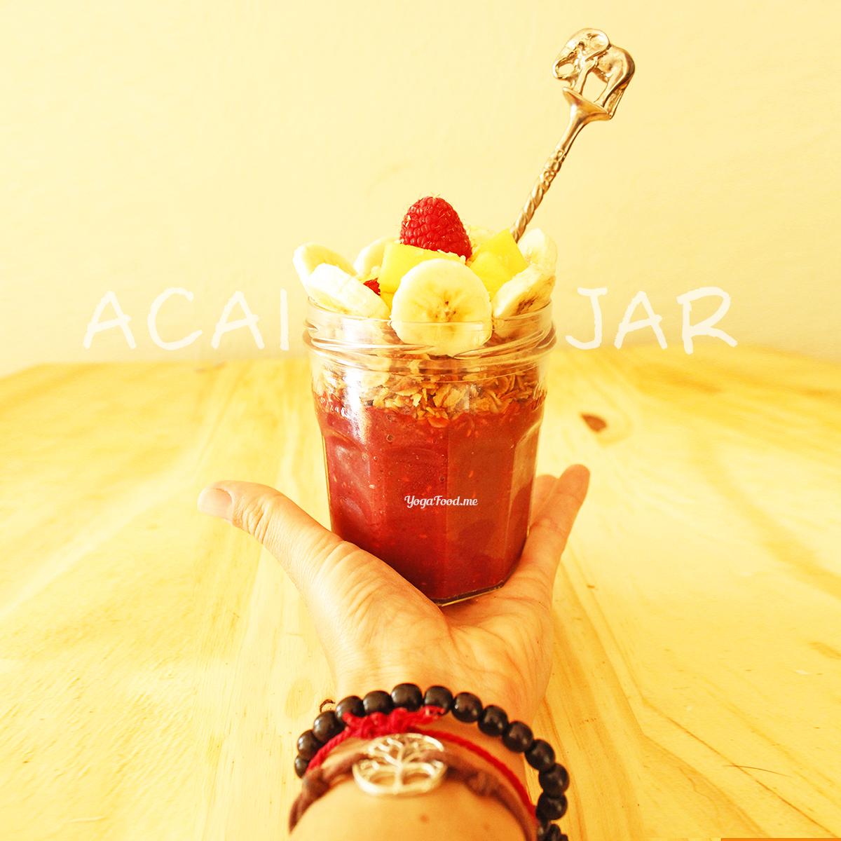Raspberry Mango Acai Jar